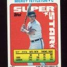 1990 Topps Sticker Backs Baseball #57 Mickey Tettleton