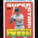 1990 Topps Sticker Backs Baseball #45 Alan Trammell - Detroit Tigers