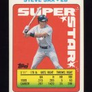 1990 Topps Sticker Backs Baseball #38 Steve Sax - New York Yankees
