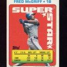 1990 Topps Sticker Backs Baseball #35 Fred McGriff - Toronto Blue Jays
