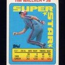 1990 Topps Sticker Backs Baseball #09 Tim Wallach - Montreal Expos