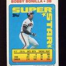 1990 Topps Sticker Backs Baseball #07 Bobby Bonilla - Pittsburgh Pirates