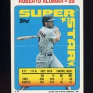 1990 Topps Sticker Backs Baseball #04 Roberto Alomar - San Diego Padres