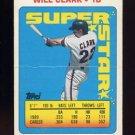 1990 Topps Sticker Backs Baseball #01 Will Clark - San Francisco Giants
