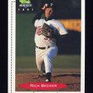 1991 Classic/Best Baseball #345 Rich Becker - Kenosha Twins