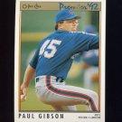 1992 O-Pee-Chee Premier Baseball #174 Paul Gibson - New York Mets