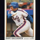 1992 O-Pee-Chee Premier Baseball #128 Dave Gallagher - New York Mets