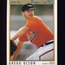1992 O-Pee-Chee Premier Baseball #101 Gregg Olson - Baltimore Orioles