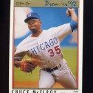 1992 O-Pee-Chee Premier Baseball #085 Chuck McElroy - Chicago Cubs