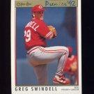 1992 O-Pee-Chee Premier Baseball #044 Greg Swindell - Cincinnati Reds