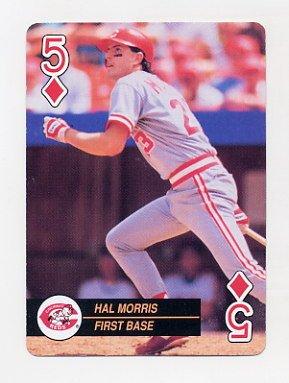 1992 U.S. Playing Cards All-Stars Baseball #05D Hal Morris - Cincinnati Reds