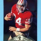 1996 Pinnacle Foil #107 Brent Jones - San Francisco 49ers