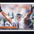 1995 Collector's Choice Football #305 Bernie Parmalee - Miami Dolphins