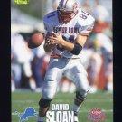 1995 Classic NFL Rookies Football #058 David Sloan - Detroit Lions