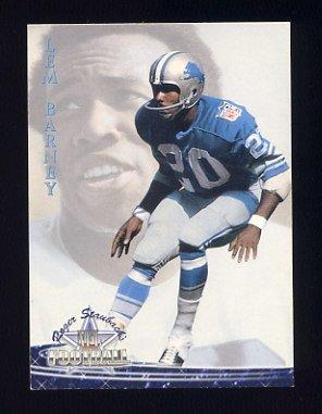 1994 Ted Williams Football #19 Lem Barney - Detroit Lions