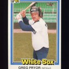 1981 Donruss Baseball #278 Greg Pryor - Chicago White Sox