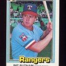 1981 Donruss Baseball #265 Pat Putnam - Texas Rangers ExMt