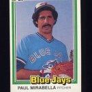 1981 Donruss Baseball #151 Paul Mirabella - Toronto Blue Jays NM-M