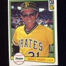 1982 Donruss Baseball #651 Harvey Haddix - Pittsburgh Pirates