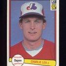 1982 Donruss Baseball #320 Charlie Lea - Montreal Expos