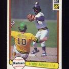 1982 Donruss Baseball #307 Lenny Randle - Seattle Mariners
