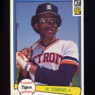 1982 Donruss Baseball #207 Al Cowens - Detroit Tigers