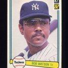 1982 Donruss Baseball #108 Bob Watson - New York Yankees