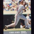 1991 Ultra Baseball #114 Chris James UER - Cleveland Indians