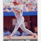 1991 Ultra Baseball #095 Billy Hatcher - Cincinnati Reds