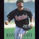 1996 Ultra Baseball #001 Manny Alexander - Baltimore Orioles