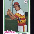 1978 Topps Baseball #514 Rob Sperring - Houston Astros
