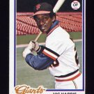 1978 Topps Baseball #436 Vic Harris - San Francisco Giants