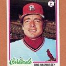 1978 Topps Baseball #281 Eric Rasmussen - St. Louis Cardinals Ex