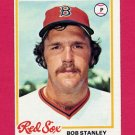 1978 Topps Baseball #186 Bob Stanley RC - Boston Red Sox