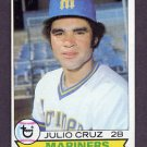 1979 Topps Baseball #583 Julio Cruz - Seattle Mariners