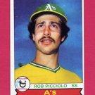 1979 Topps Baseball #378 Rob Picciolo - Oakland A's