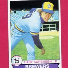 1979 Topps Baseball #303 Lary Sorensen - Milwaukee Brewers