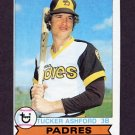 1979 Topps Baseball #247 Tucker Ashford - San Diego Padres