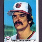 1979 Topps Baseball #102 Mike Anderson - Baltimore Orioles