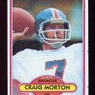 1980 Topps Football #105 Craig Morton - Denver Broncos