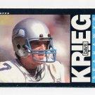 1985 Topps Football #388 Dave Krieg - Seattle Seahawks