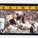 1985 Topps Football #100 New Orleans Saints Team Leaders