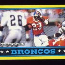 1986 Topps Football #111 Denver Broncos Team Leaders