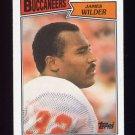 1987 Topps Football #385 James Wilder - Tampa Bay Buccaneers