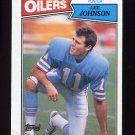 1987 Topps Football #311 Lee Johnson RC - Houston Oilers