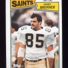 1987 Topps Football #275 Hoby Brenner - New Orleans Saints G
