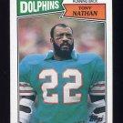 1987 Topps Football #235 Tony Nathan - Miami Dolphins VgEx