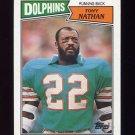 1987 Topps Football #235 Tony Nathan - Miami Dolphins Ex