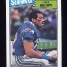 1987 Topps Football #182 Dave Brown - Seattle Seahawks