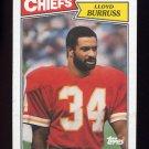 1987 Topps Football #170 Lloyd Burruss RC - Kansas City Chiefs